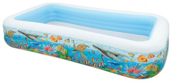 Бассейн надувной Intex Swim Center 58485 Tropical Reef